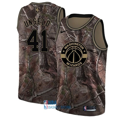 Achat Maillot NBA Washington Wizards NO.41 Wes Unseld Camo Swingman Collection Realtree 2018