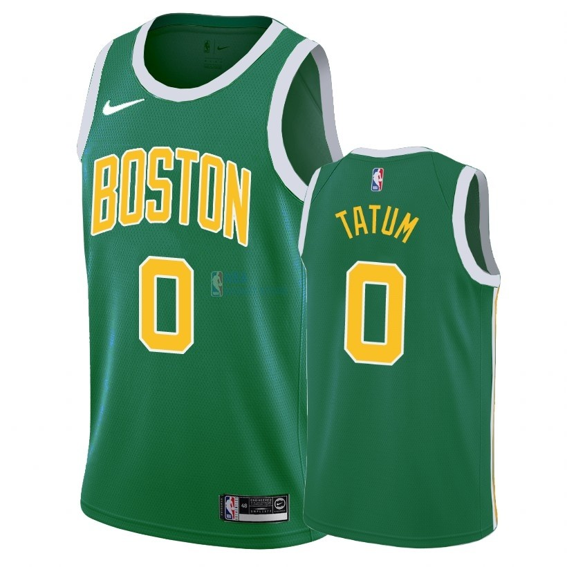 Achat Maillot Earned Edition Boston Celtics NO.0 Jayson Tatum Vert 2018-19