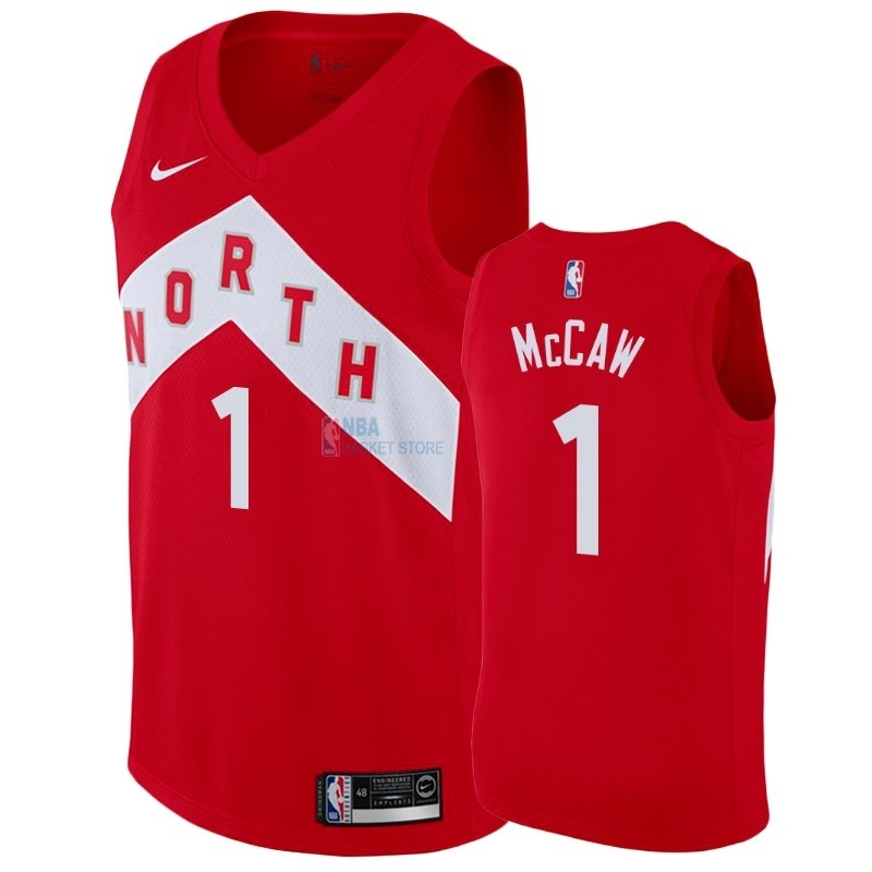 Achat Maillot Earned Edition Toronto Raptors NO.1 Patrick McCaw Rouge 2018-19