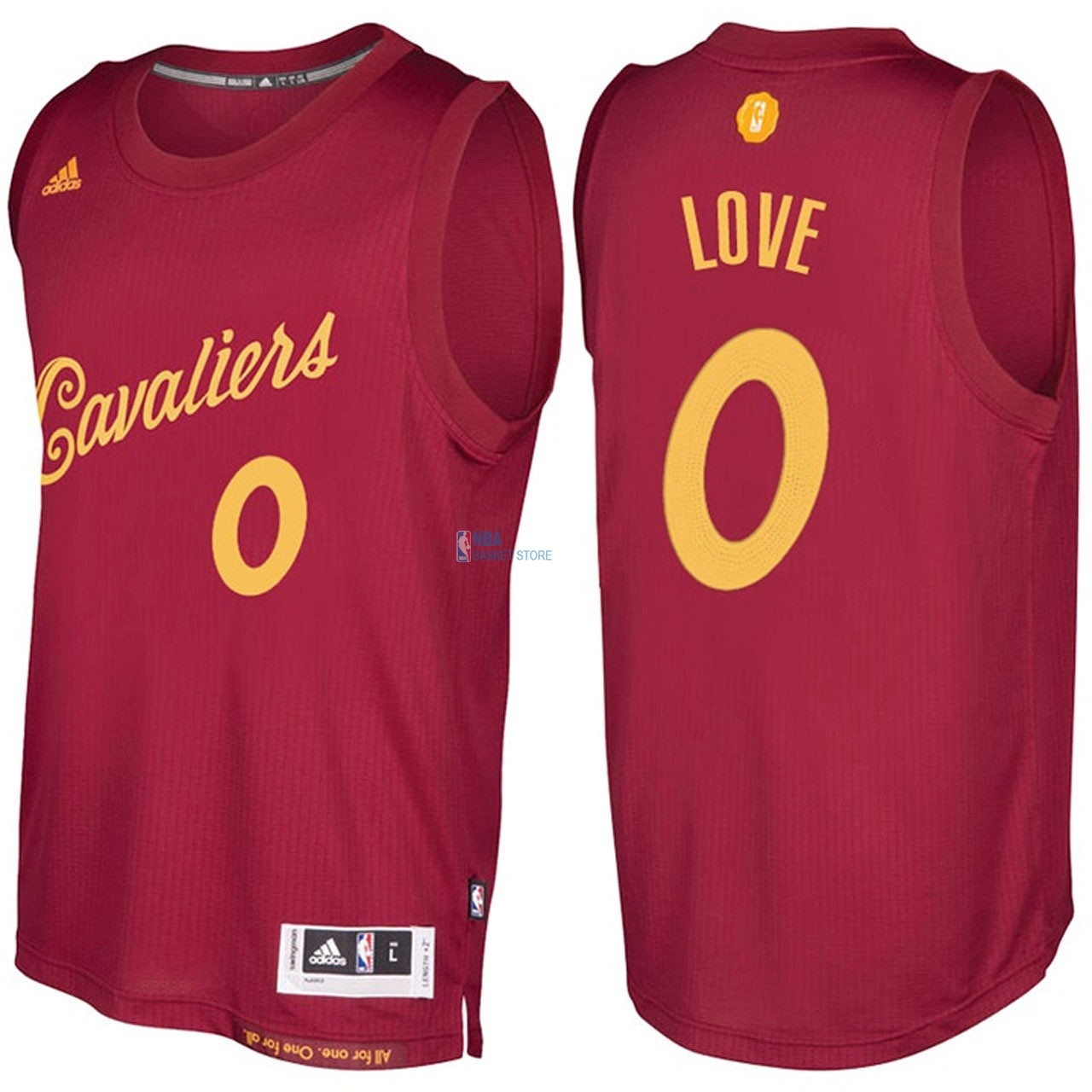 Achat Maillot NBA Cleveland Cavaliers NO.0 Kevin Love Rouge Hardwood Classics 2016-17