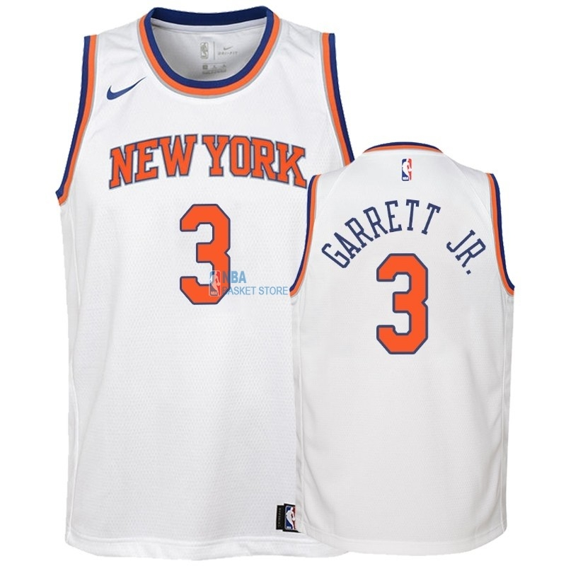 Achat Maillot NBA Enfant New York Knicks NO.3 Billy Garrett Jr. Blanc Association 2018-19