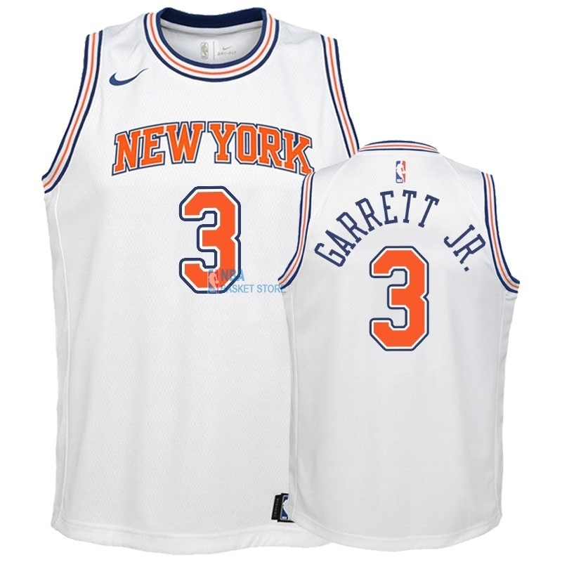 Achat Maillot NBA Enfant New York Knicks NO.3 Billy Garrett Jr. Blanc Statement 2018-19