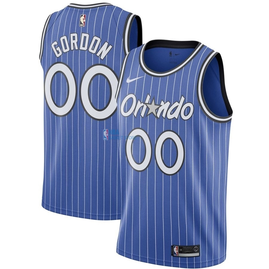 Achat Maillot NBA Orlando Magic NO.0 Aaron Gordon Bleu Hardwood Classics