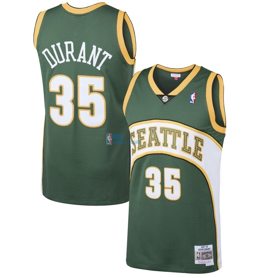 Achat Maillot NBA Seattle SuperSonics NO.35 Kevin Durant Vert Hardwood Classic 2007-08