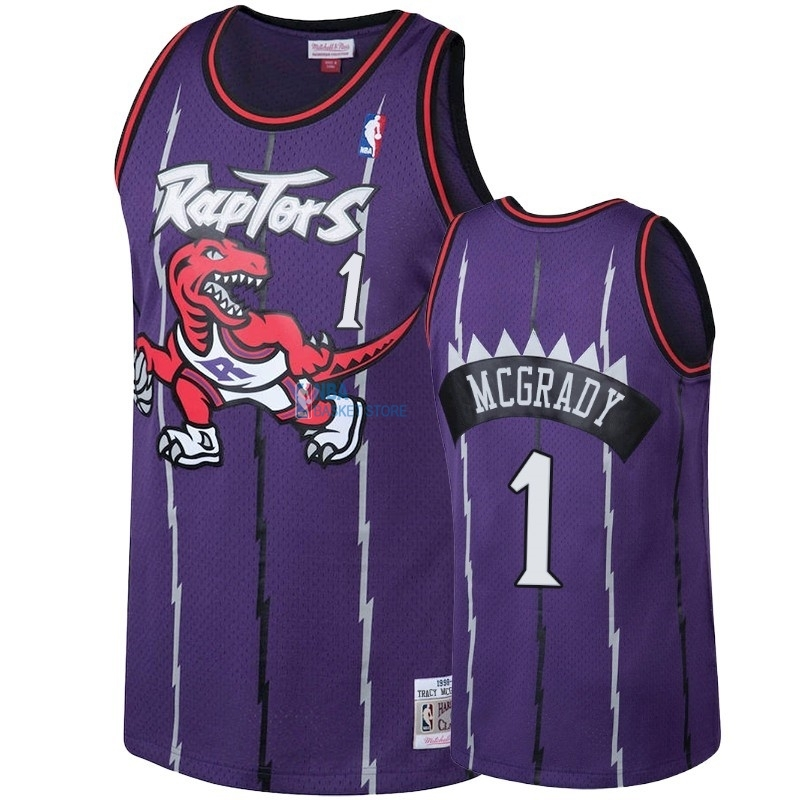 Achat Maillot NBA Toronto Raptors NO.1 Tracy McGrady Pourpre Hardwood Classic 1998-99