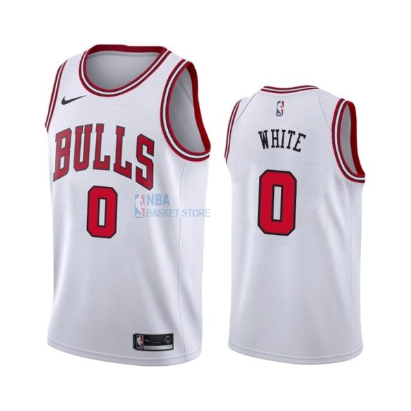Achat Maillot NBA Nike Chicago Bulls NO.0 Coby White Blanc Association 2019-20
