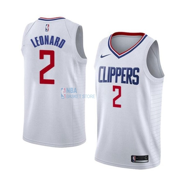 Achat Maillot NBA Nike Los Angeles Clippers NO.2 Kawhi Leonard Blanc Association 2019-20