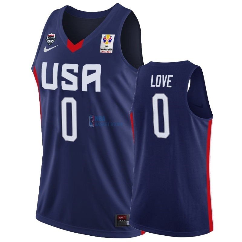 Achat Maillot Coupe Du Monde Basket FIBA 2019 USA NO.0 Kevin Love Marine