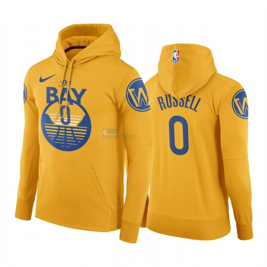 Achat Hoodies NBA Golden State Warriors NO.0 D'Angelo Russell Or