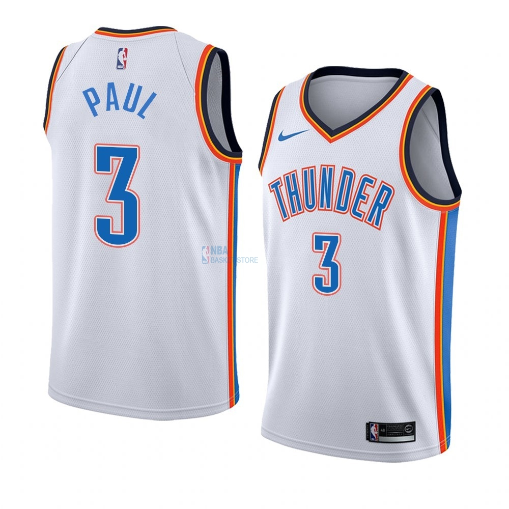 Achat Maillot NBA Nike Oklahoma City Thunder NO.3 Chris Paul Blanc Association Edition