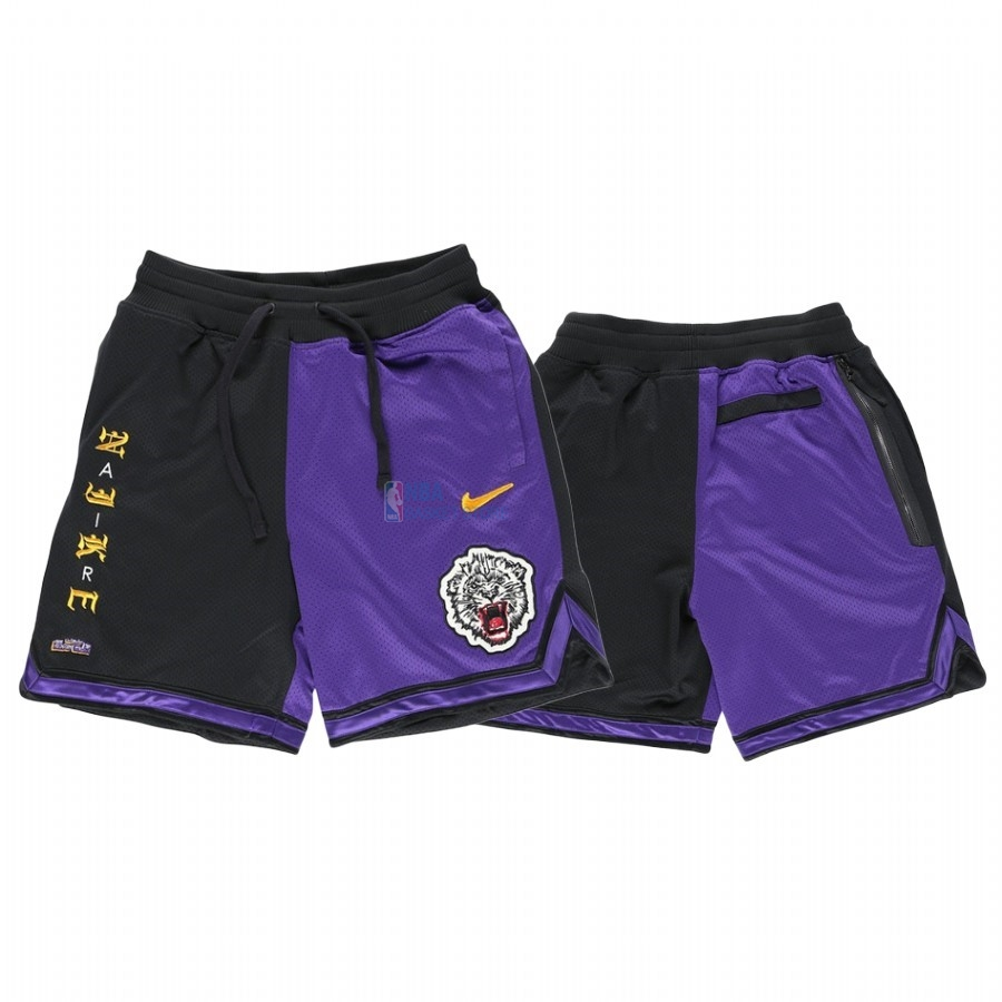 Achat Short Basket Los Angeles Lakers Nike Pourpre