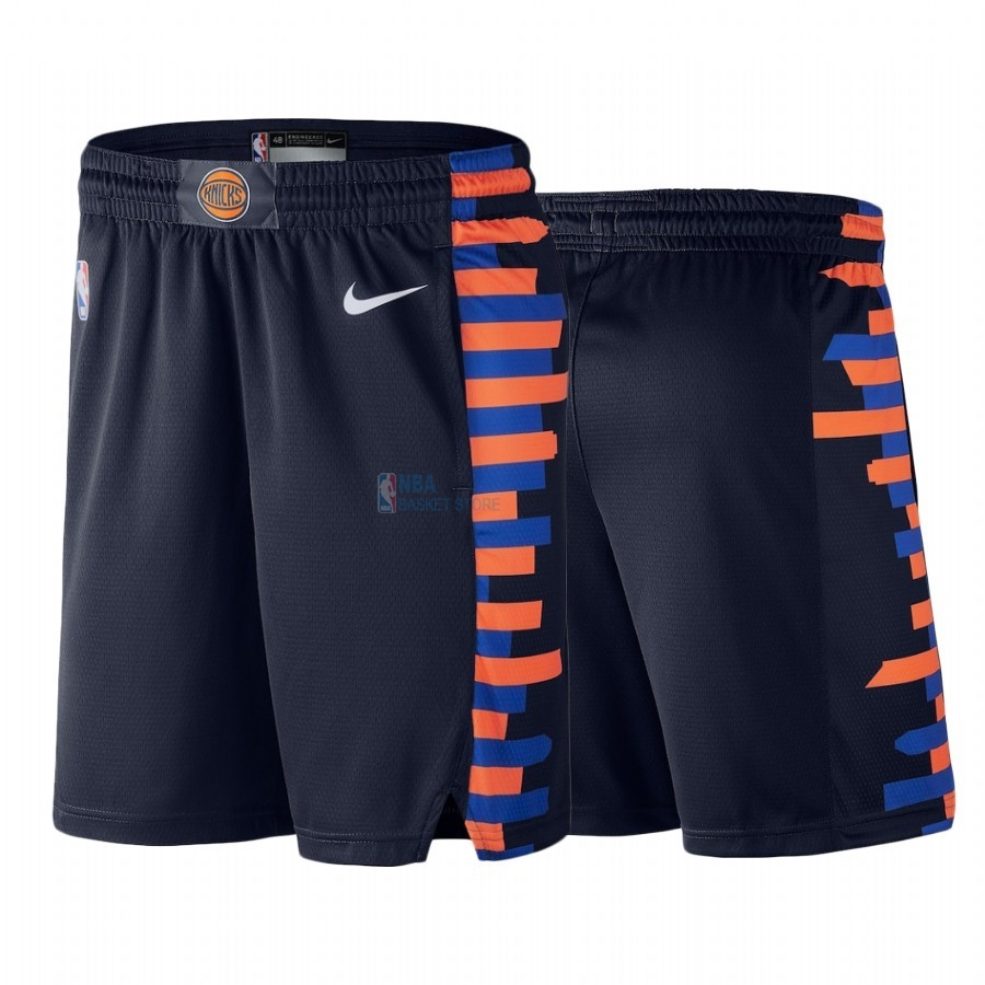 Achat Short Basket New York Knicks Nike Marine