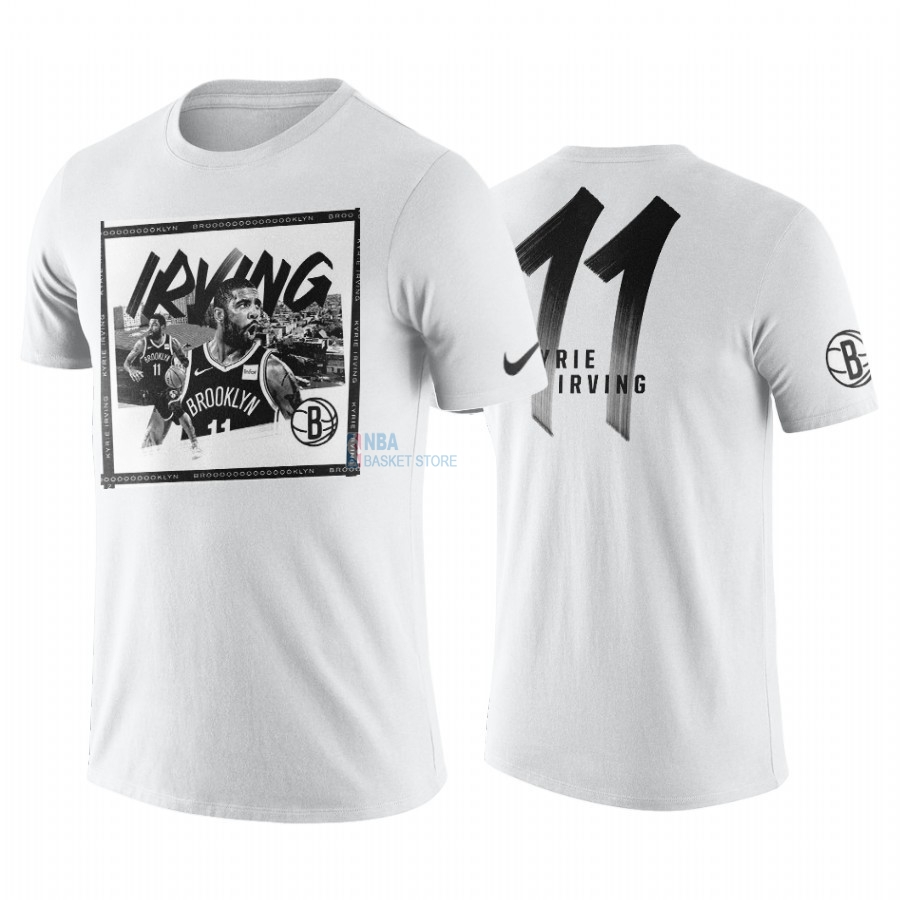 Achat T-Shirt NBA Brooklyn Nets Kyrie Irving Blanc