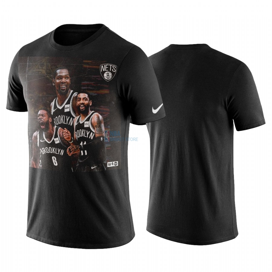 Achat T-Shirt NBA Brooklyn Nets Kyrie Irving Noir