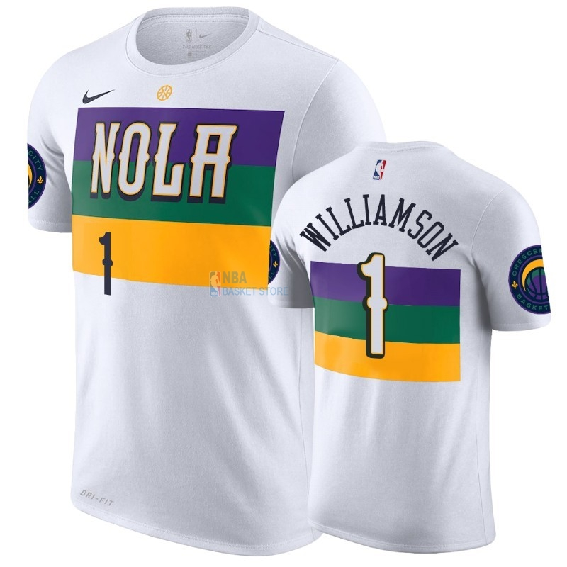 Achat T-Shirt NBA New Orleans Pelicans Zion Williamson Blanc Ville