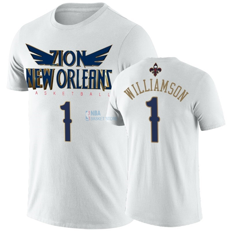 Achat T-Shirt NBA New Orleans Pelicans Zion Williamson Blanc