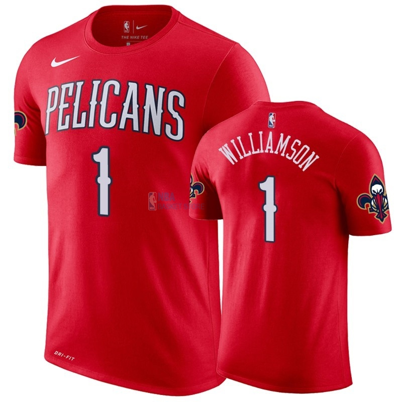 Achat T-Shirt NBA New Orleans Pelicans Zion Williamson Rouge Statement