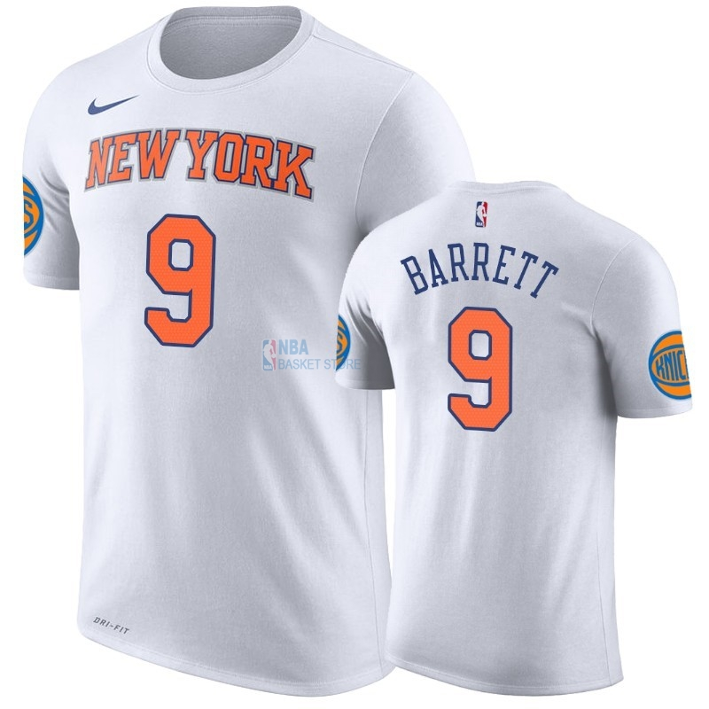 Achat T-Shirt NBA New York Knicks R.J. Barrett Blanc Association