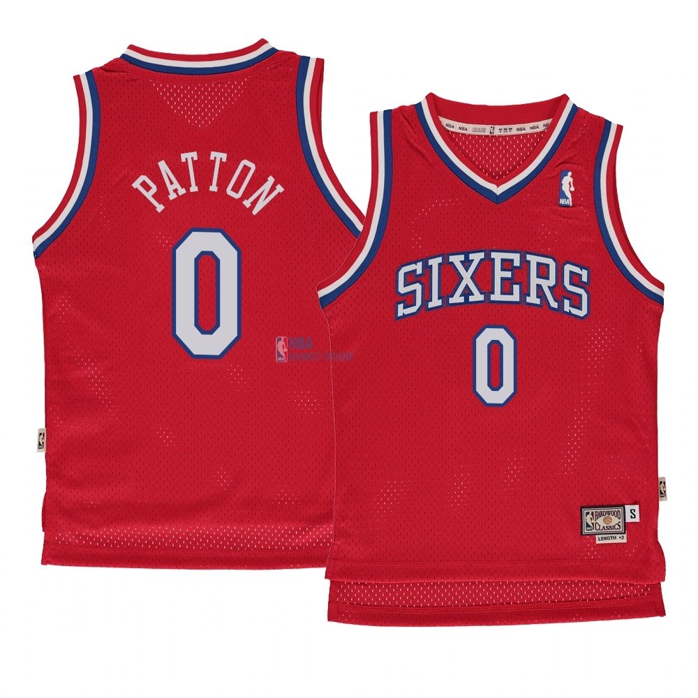 Achat Maillot NBA Enfant Philadelphia Sixers NO.0 Justin Patto Rouge Hardwood Classics 1982-83