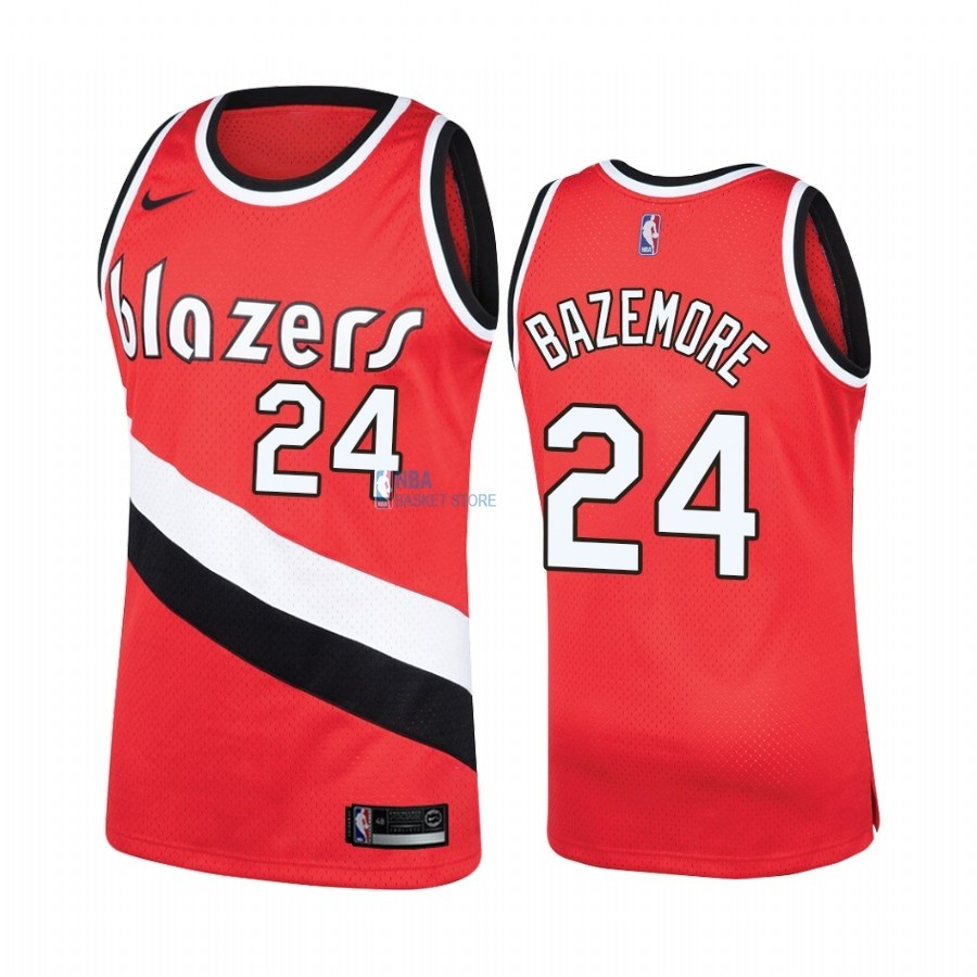 Achat Maillot NBA Portland Trail Blazers NO.24 Kent Bazemore Rouge Hardwood Classics