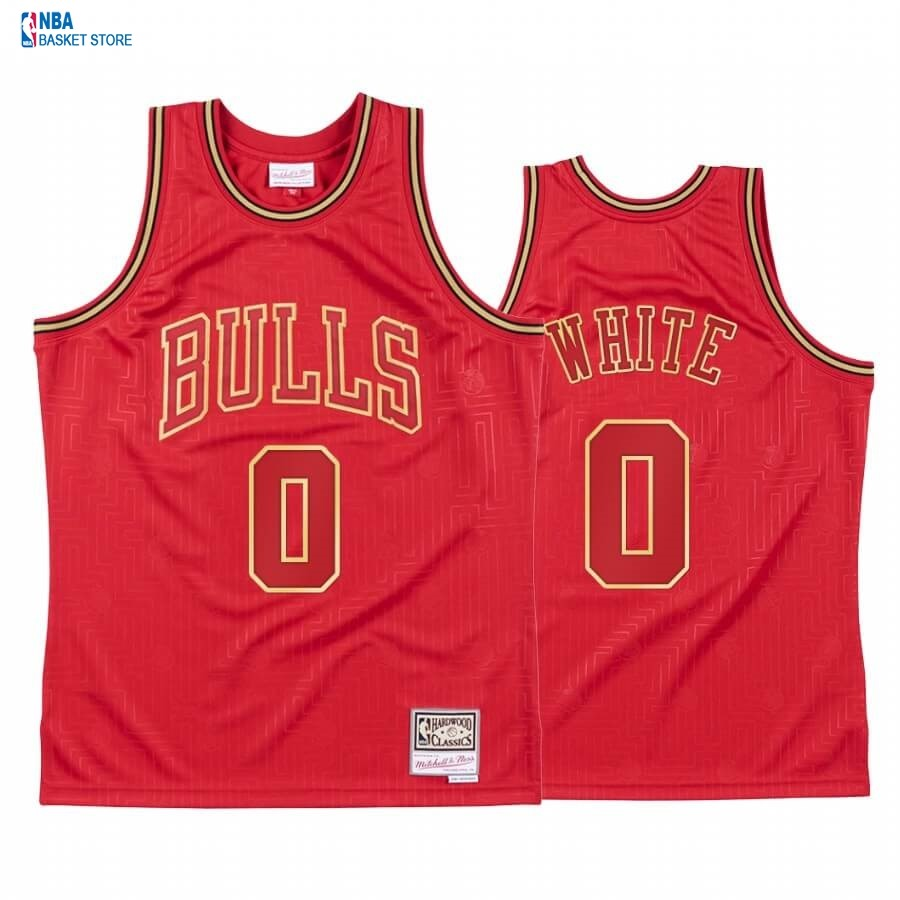 Achat Maillot NBA CNY Throwback Chicago Bulls NO.0 Coby White Rouge 2020