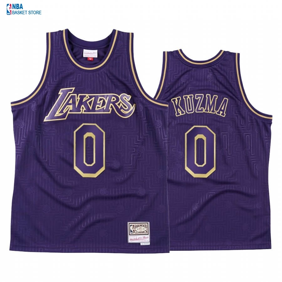 Achat Maillot NBA CNY Throwback Huston Rockets NO.0 Kyle Kuzma Pourpre 2020