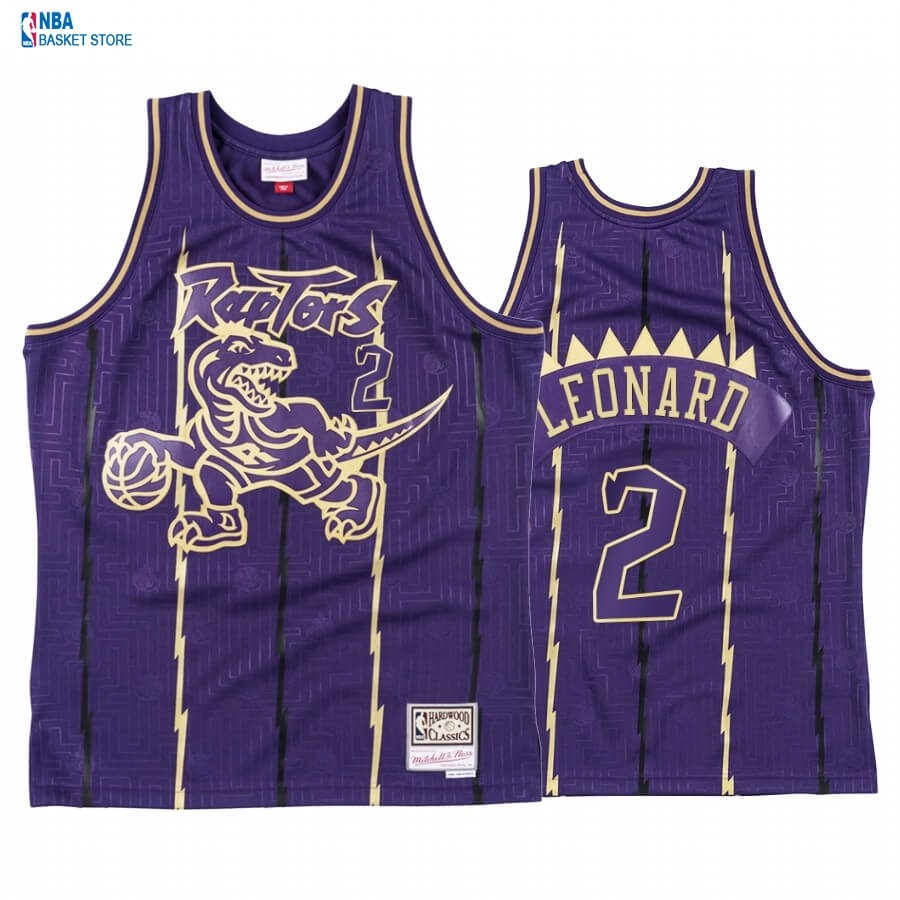 Achat Maillot NBA CNY Throwback TOrnto Raptors NO.2 Kawhi Leonard Pourpre 2020