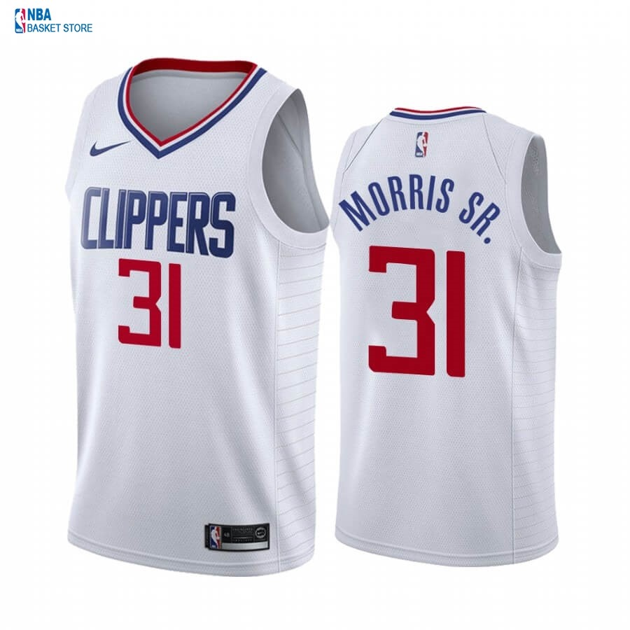 Achat Maillot NBA Nike Los Angeles Clippers NO.31 Marcus Morris Sr. Blanc Association 2019-20