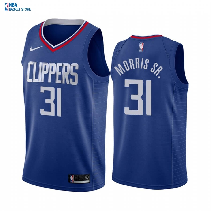 Achat Maillot NBA Nike Los Angeles Clippers NO.31 Marcus Morris Sr. Bleu Icon 2019-20