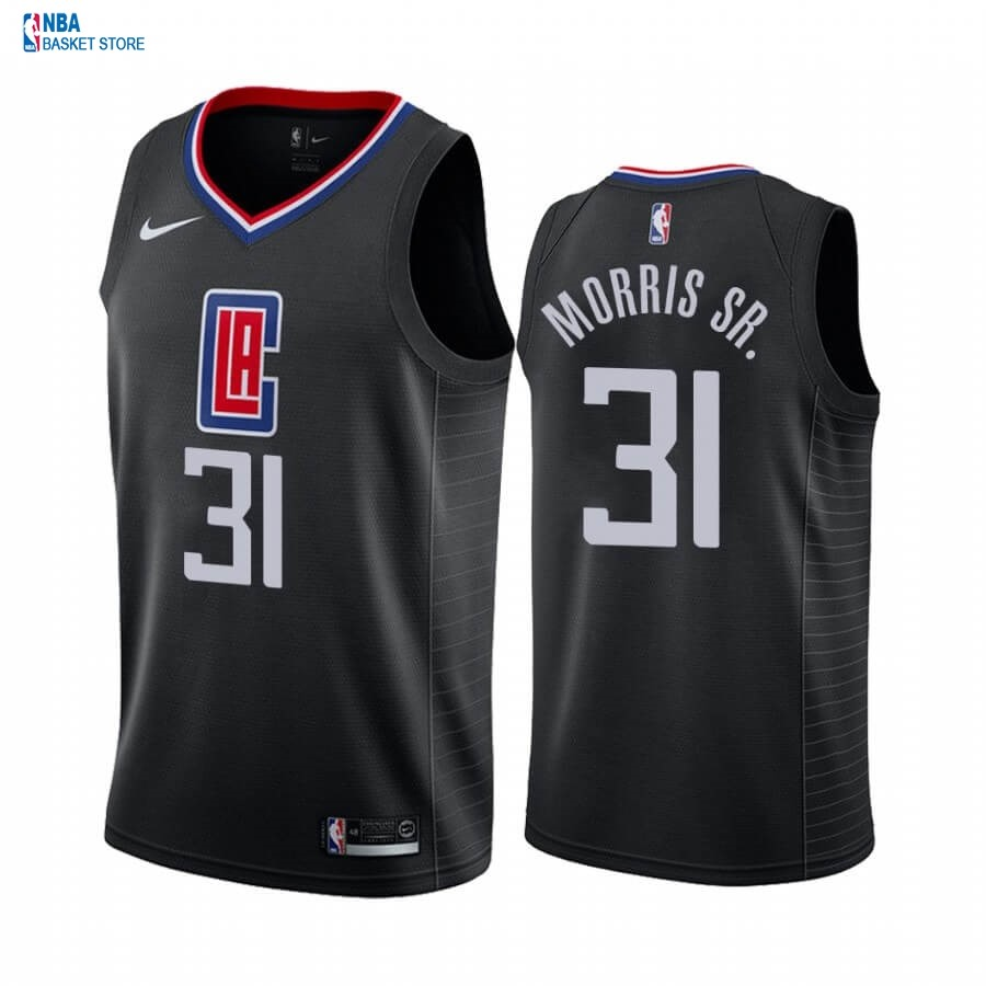 Achat Maillot NBA Nike Los Angeles Clippers NO.31 Marcus Morris Sr. Noir Statement 2019-20