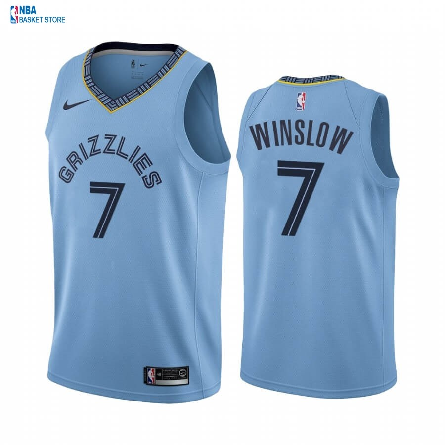 Achat Maillot NBA Nike Menphis Grizzlies NO.7 Justise Winslow Bleu Statement 2019-20