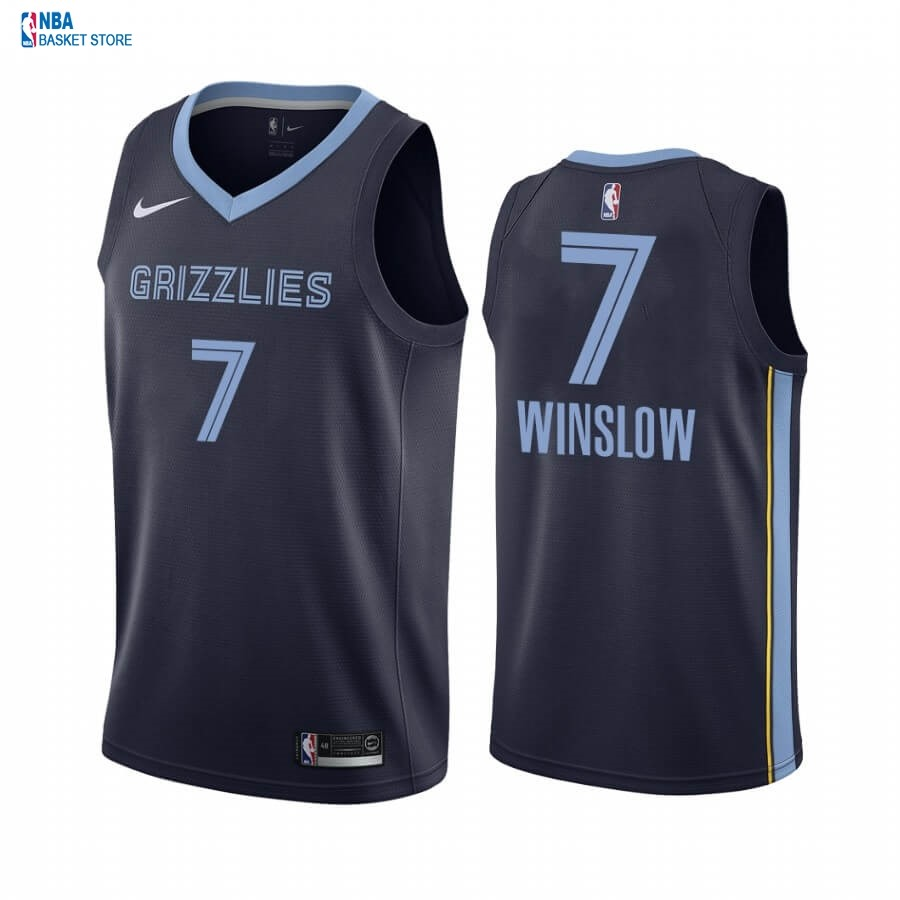 Achat Maillot NBA Nike Menphis Grizzlies NO.7 Justise Winslow Marine Icon 2019-20