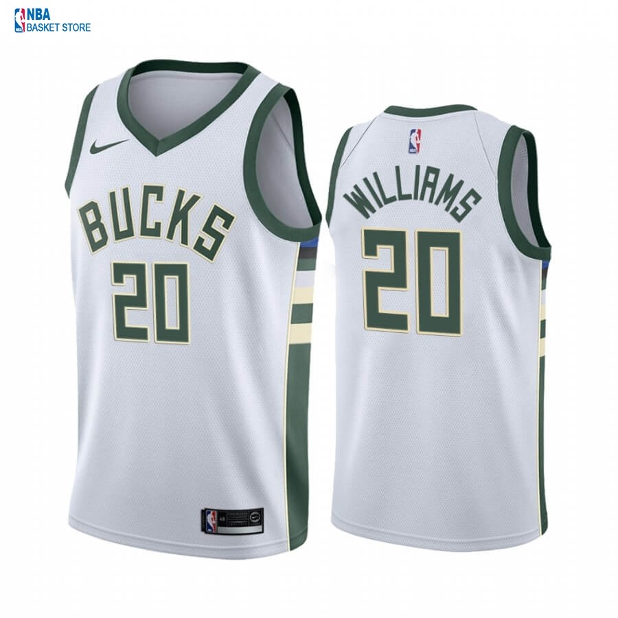 Achat Maillot NBA Nike Milwaukee Bucks NO.20 Marvin Williams Blanc Association 2019-20