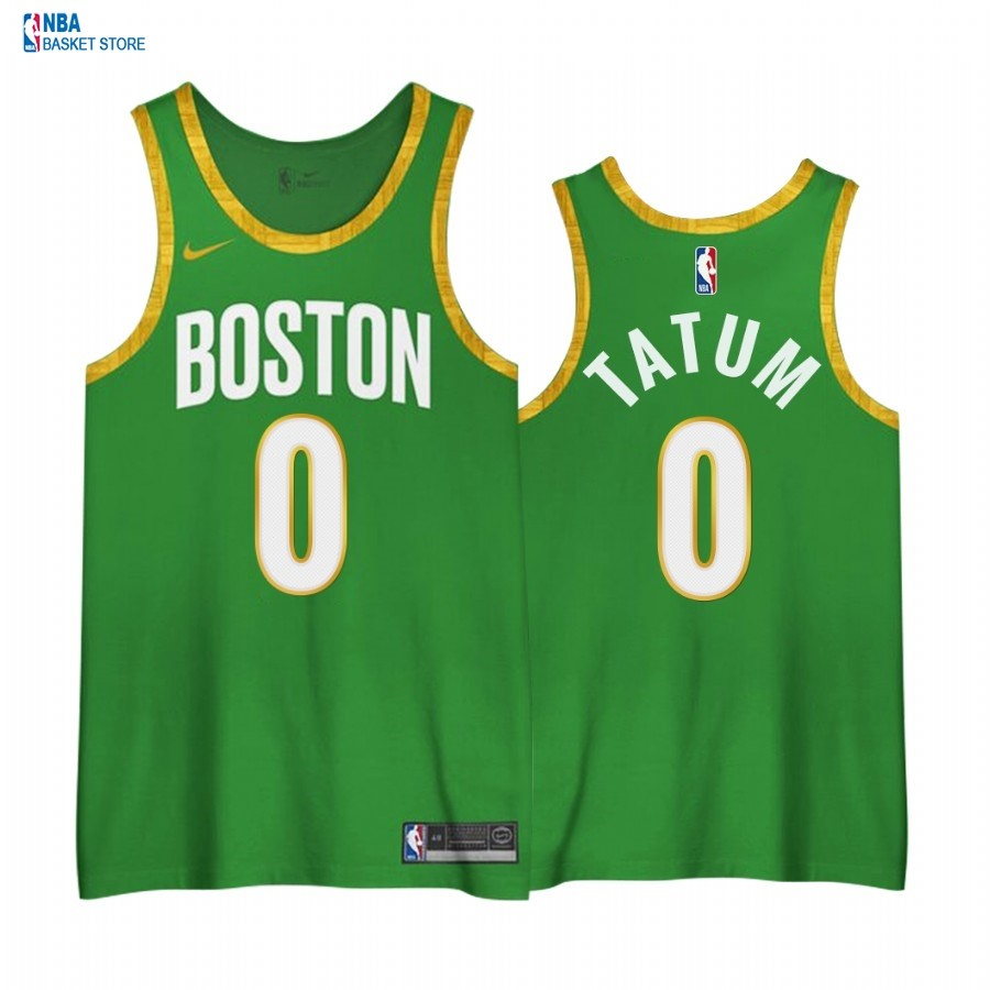 Achat Maillot NBA Earned edition Boston Celtics NO.0# Jayson Tatum Vert 2020-21