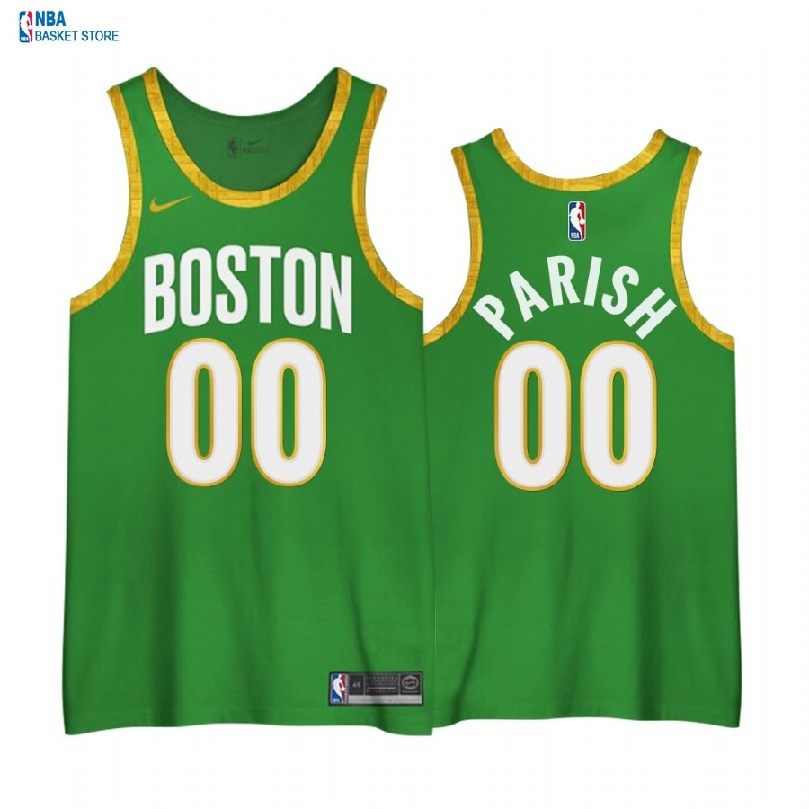 Achat Maillot NBA Earned edition Boston Celtics NO.00# Robert Parish Vert 2020-21