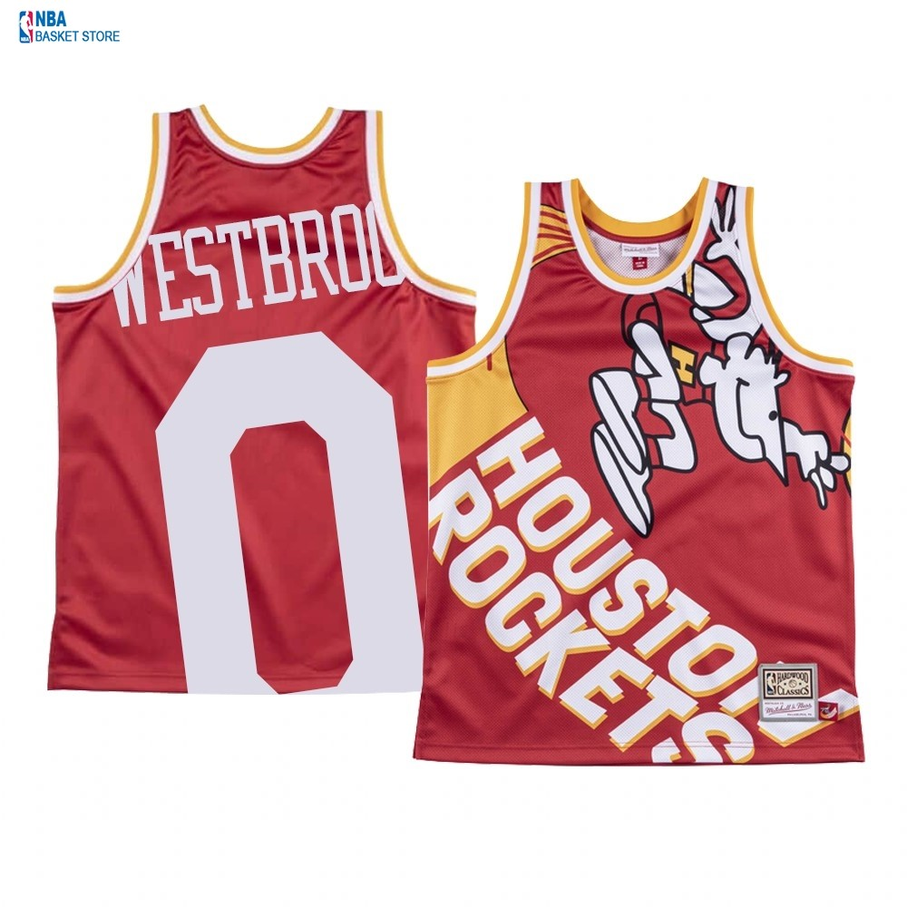 Achat Maillot NBA Houston Rockets Big Face NO.0# Russell Westbrook Rouge