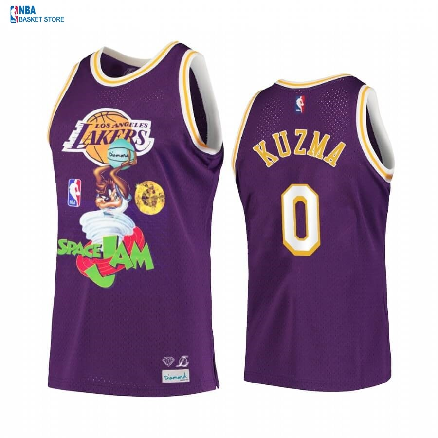 Achat Maillot NBA Los Angeles Lakers NO.0# Kyle Kuzma Pourpre Hardwood Classics