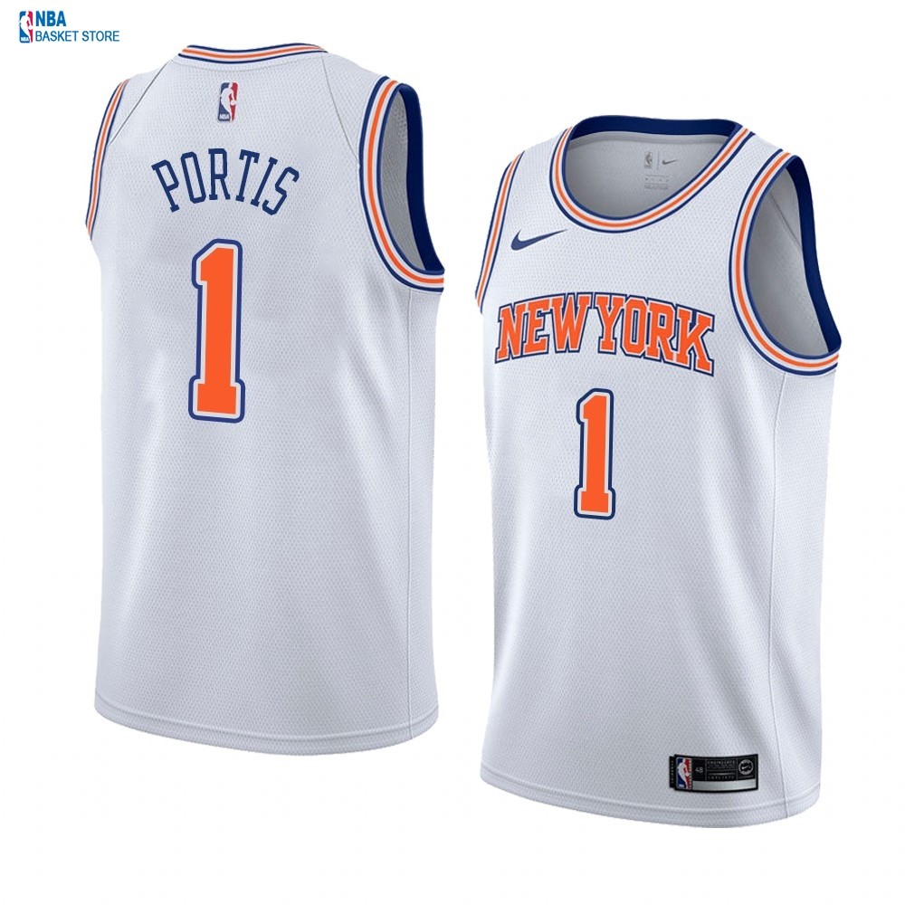 Achat Maillot NBA Nike New York Knicks NO.1# Bobby Portis Blanc Statement 2019-20