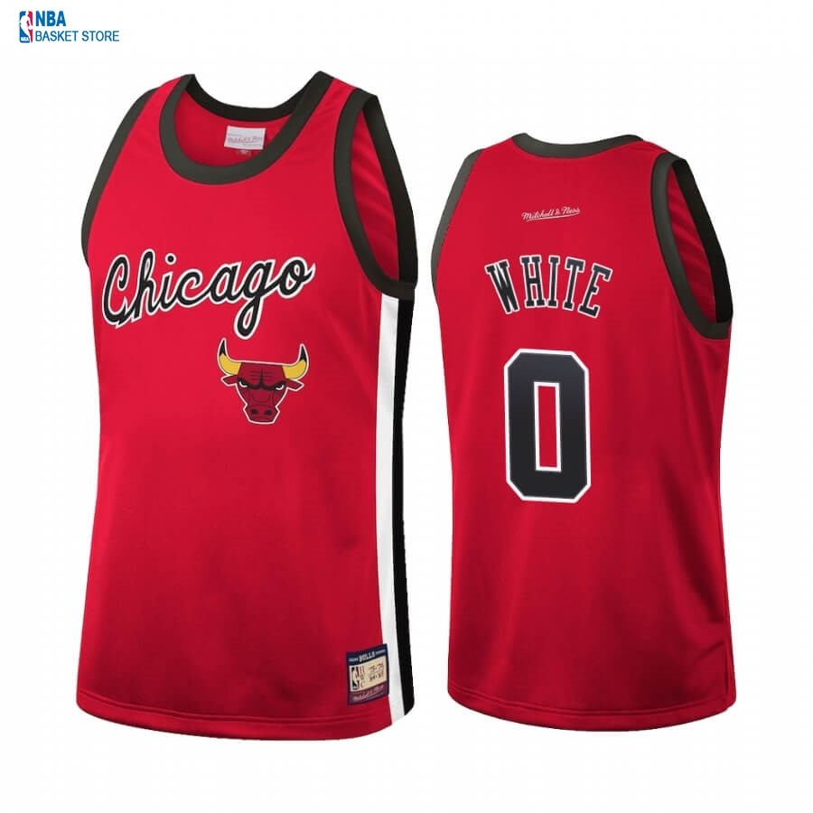 Achat Maillot NBA Chicago Bulls NO.0 Coby White Rouge Hardwood Classics 2020