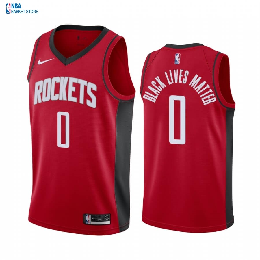 Achat Maillot NBA Nike Houston Rockets NO.0 Russell Westbrook Rouge Icon 2020-21