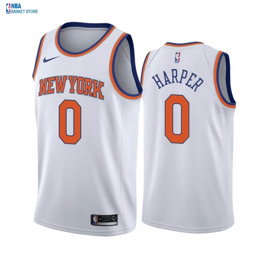 Achat Maillot NBA Nike New York Knicks NO.0 Jared Harper Blanc Association 2020-21