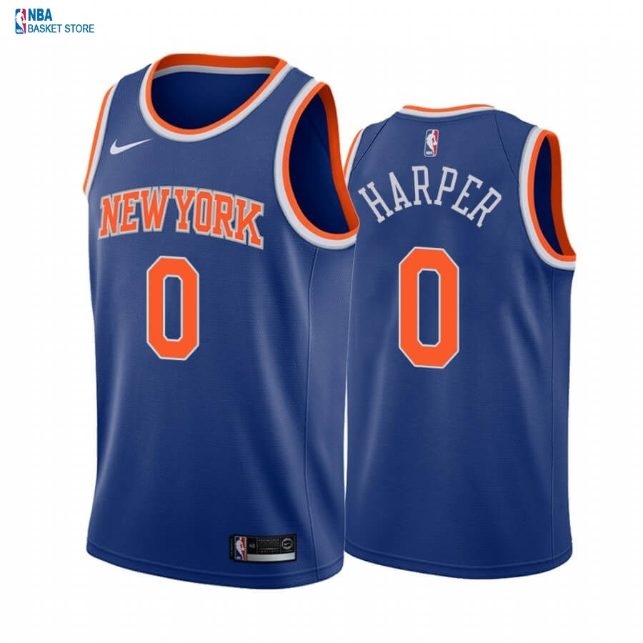Achat Maillot NBA Nike New York Knicks NO.0 Jared Harper Bleu Icon 2020-21