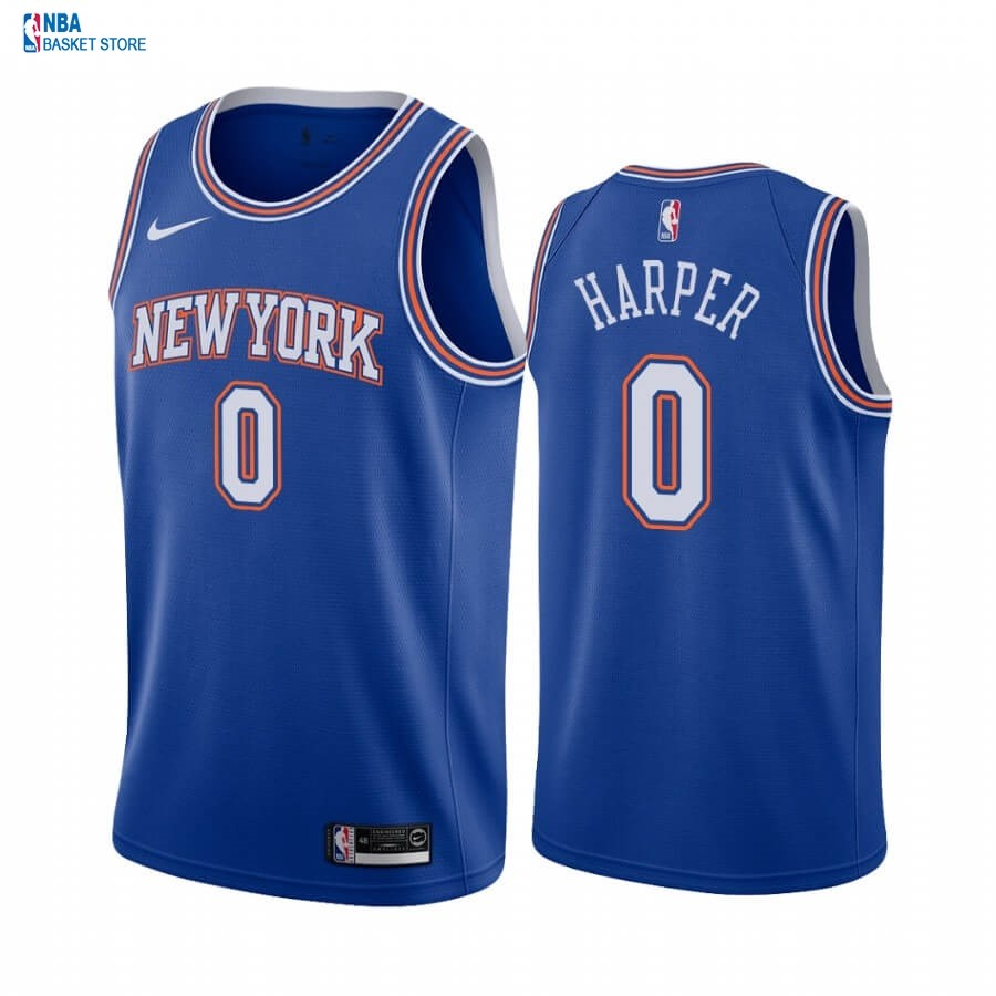 Achat Maillot NBA Nike New York Knicks NO.0 Jared Harper Bleu Statement 2020-21