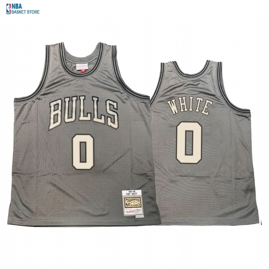 Achat Maillot NBA Chicago Bulls NO.0 Coby White Gris Hardwood Classics