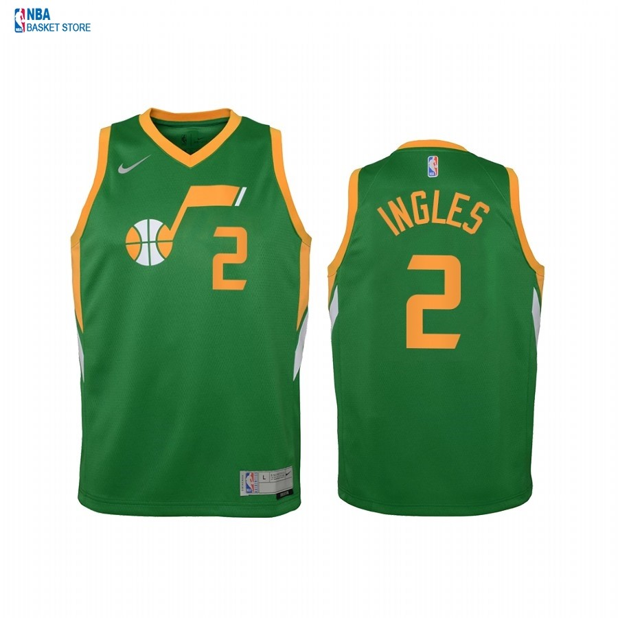 Achat Maillot NBA Enfant Earned Edition Utah Jazz NO.2 Joe Ingles Vert 2021