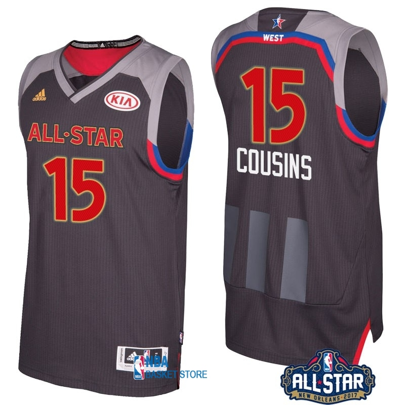 Achat Maillot NBA 2017 All Star NO.15 Demarcus Cousins Charbon