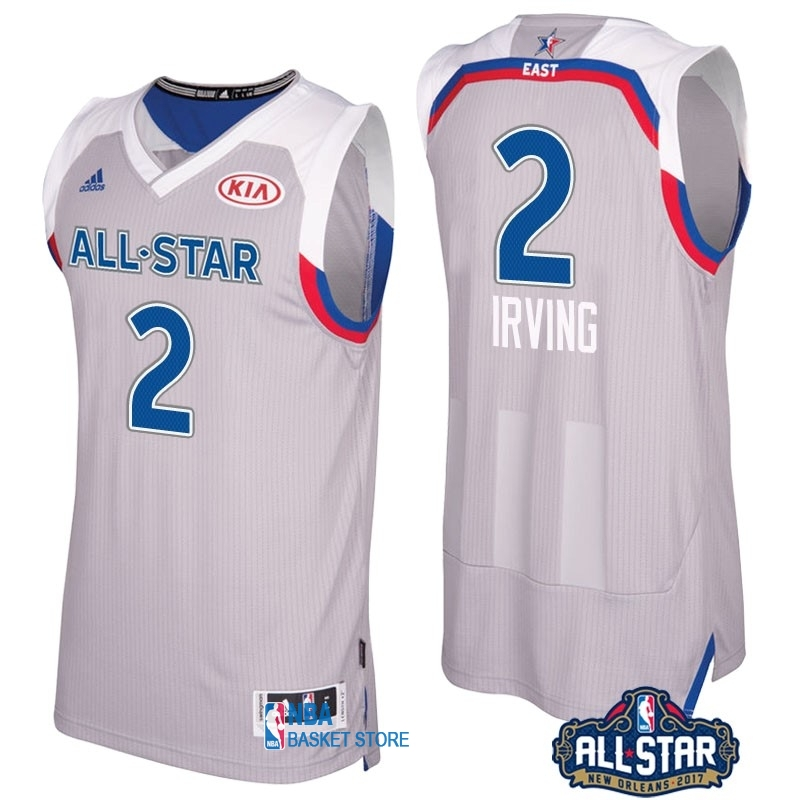 Achat Maillot NBA 2017 All Star NO.2 kyrie Irving Gray