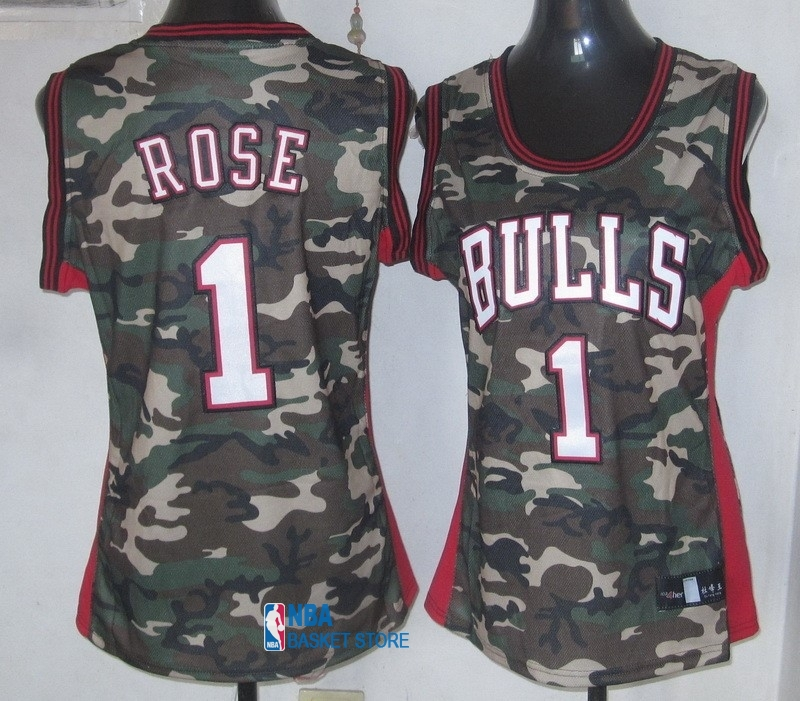 Achat Maillot NBA Femme 2013 Camouflage Fashion NO.1 Rose