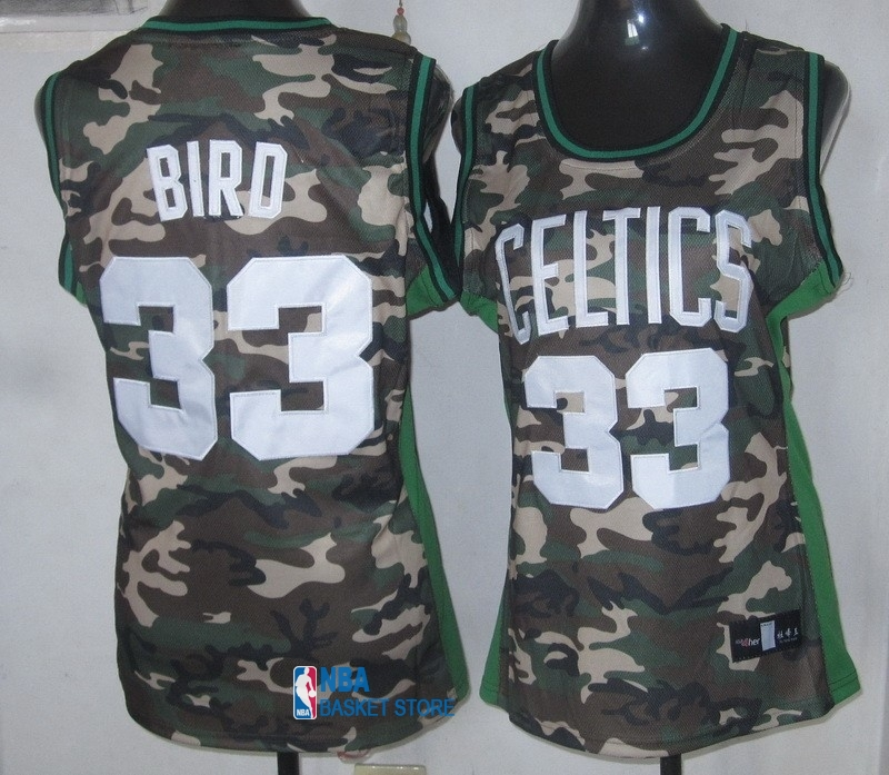 Achat Maillot NBA Femme 2013 Camouflage Fashion NO.33 Bird