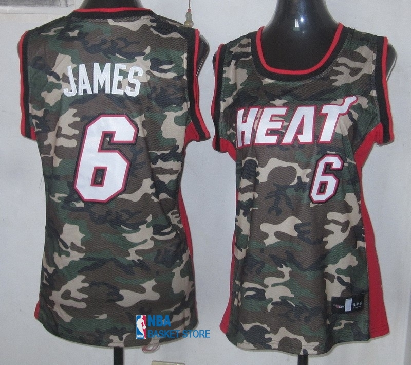 Achat Maillot NBA Femme 2013 Camouflage Fashion NO.6 James